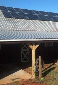 Twenty REC PE 255 watt solar modules on barn roof.
